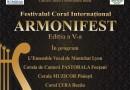 """Începe Festivalul Coral """"ARMONIFEST 2018"""""""