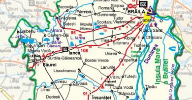 Harta judetului