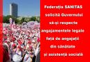 Federația SANITAS din România solicită Guvernului să-și respecte angajamentele legale față de angajații din sănătate și asistență socială