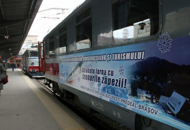 """Ministerul Transporturilor, Constructiilor si Turismului si CFR Calatori a lansat, luni, oferta turistica de calatorie """"Trenurile Zapezii""""."""