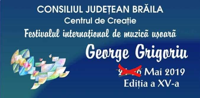 """Am aflat cine cânta în recital la Festivalul """"George Grigoriu"""" din acest an"""
