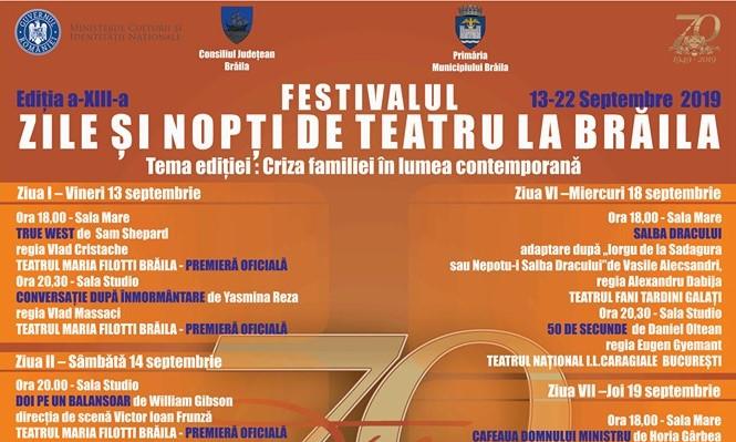 """De azi, s-au pus in vanzare bilete pentru Festivalul  """"Zile si nopti de teatru la Brăila"""""""