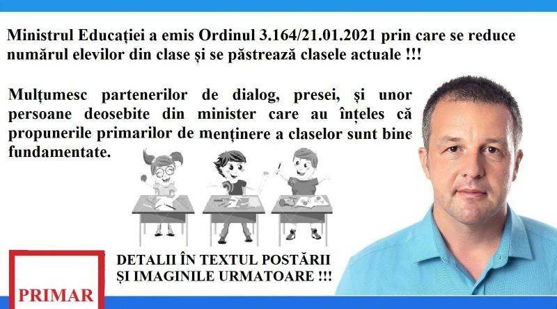 """""""VICTORIE !!! NU SE MAI REDUC CLASE LA LICEELE DIN BRĂILA !!!"""", primarul Marian Viorel Dragomir"""