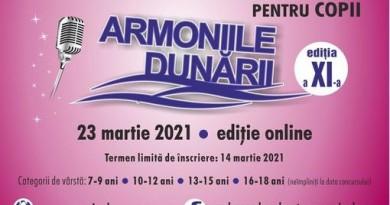 """ÎNSCRIERI LA CONCURSUL """"ARMONIILE DUNĂRII"""" DE LA BRĂILA"""