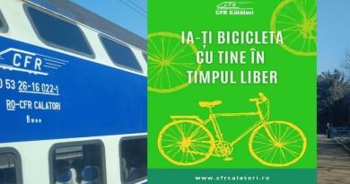 CFR Călători: Ia-ți bicicleta cu tine în timpul liber!